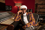 Fea0085131 . Daily Telegraph<br /> <br /> Arts<br /> <br /> Nile Rodgers , the legendary American Record producer and co founder of disco group Chic photographed at Abbey Studios where he has been appointed Chief created Advisor .<br /> <br /> London 13 September 2018