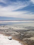A salt lake at Salar de Atacama, Atacama desert, Chile