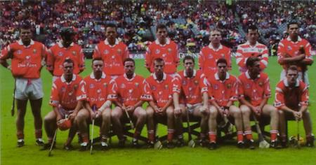 All Ireland Senior Hurling Championship - Final, .12.09.1999, 09.12.1999, 12th September 1999,.12091999AISHCF,.Senior Kilkenny v Cork,.Minor Galway v Tipperary, .Cork 0-13, Kilkenny 0-12, .Esat Digifone, .Cork back row, Diarmuid O'Sullivan, Brian Corcoran, John Browne, Fergal McCormack, Wayne Sherlock, Donal Og Cusack, Sean Og O hAilpin, Front row from left, Seanie McGrath, Fergal Ryan, Michael O'Connell, Ben O'Connor, Mark Landers captain, Neil Ronan, Tommy McCarthy, Joe Deane,