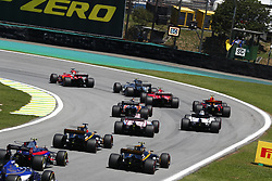 November 12, 2017 - Sao Paulo, Brazil - Motorsports: FIA Formula One World Championship 2017, Grand Prix of Brazil, . Start, mass, Masse, Menge, viele, many  (Credit Image: © Hoch Zwei via ZUMA Wire)