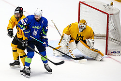 Anze Kopitar of Slovenia and Mantas Armalis of Lithuania during ice hockey match between Slovenia and Lithuania at IIHF World Championship DIV. I Group A Kazakhstan 2019, on May 5, 2019 in Barys Arena, Nur-Sultan, Kazakhstan. Photo by Matic Klansek Velej / Sportida