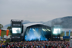 The crowd as Magnetic Man play on the Main Stage..Rockness, Saturday, 11th June 2011..RockNess 2011, the annual music festival which takes place in Scotland at Clune Farm, Dores, on the banks of Loch Ness near Inverness..Pic ©2011 Michael Schofield. All Rights Reserved..