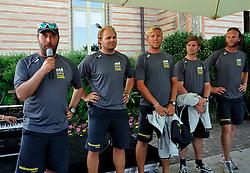 Bjorn Hansen introduces his team at the opening ceremony. Photo: Chris Davies/WMRT