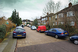 © Licensed to London News Pictures. 10/01/2014 Harrow, UK. A general view of Woodgrange Close, Harrow where the bodies of  a 33-year-old woman, a five-year-old boy and  a seven month old boy have been found in a ground floor flat. The deaths of the two children are being treated as murder the woman's death is not being treated as suspicious at this stage. Photo credit : Simon Jacobs/LNP