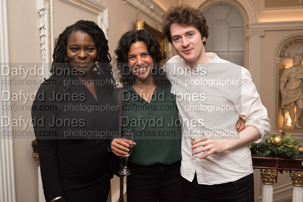 VALERIE BRANDES, ISABELLE DU PUY, FRANK LAWTON Literary Review  40th anniversary party and Bad Sex Awards,  In & Out Club, 4 St James's Square. London. 2 December 2019