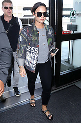 Demi Lovato departing from the Los Angeles International Airport. 14 Aug 2017 Pictured: Demi Lovato. Photo credit: MEGA TheMegaAgency.com +1 888 505 6342
