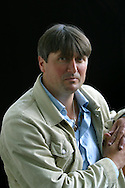 Popular British poet Simon Armitage, pictured at the Edinburgh International Book Festival, where he talked about his growing reputation as a novelist with the publication of his recently-published 'The White Stuff'. The book festival was a part of the Edinburgh International Festival, the largest annual arts festival in the world.