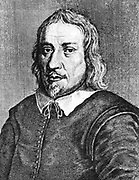 Jacob de Boehme (1575-1624) German theosophist, mystic and alchemist.  18th century copperplate engraving