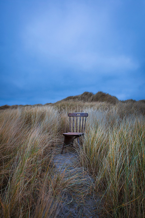 "Abandoned Wooden Chair on Bull Island, Dublin This mage can be licensed via Millennium Images. Contact me for more details, or email mail@milim.com For prints, contact me, or click ""add to cart"" to some standard print options."