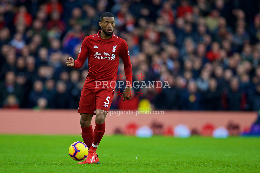 BRIGHTON AND HOVE, ENGLAND - Saturday, January 12, 2019: Liverpool's Georginio Wijnaldum during the FA Premier League match between Brighton & Hove Albion FC and Liverpool FC at the American Express Community Stadium. (Pic by David Rawcliffe/Propaganda)