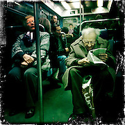Paris, France. March 2nd 2012.In the parisian subway
