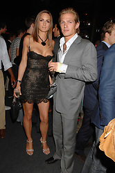 SHELLEY ROSS and JACOBI ANSTRUTHER-GOUGH-CALTHORPE at a party to celebrate the launch of the new Fiat Bravo held at The Roundhouse Theatre, Chalk Farm Road, London on 13th June 2007.<br />