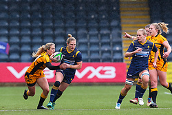 Lydia Thompson of Worcester Warriors Women in possession - Mandatory by-line: Nick Browning/JMP - 24/10/2020 - RUGBY - Sixways Stadium - Worcester, England - Worcester Warriors Women v Wasps FC Ladies - Allianz Premier 15s