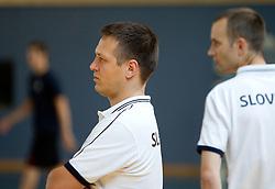 Aleksander Sekulic and Gasper Potocnik, assistant coaches during media day at training camp of Slovenian National Basketball team for Eurobasket Lithuania 2011, on July 19, 2011, in Arena Ljudski vrt, Ptuj, Slovenia.  (Photo by Vid Ponikvar / Sportida)