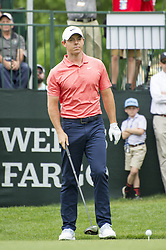 May 5, 2019 - Charlotte, North Carolina, United States of America - Rory McIlroy looks down the fairway before teeing off on the first hole during the final round of the 2019 Wells Fargo Championship at Quail Hollow Club on May 05, 2019 in Charlotte, North Carolina. (Credit Image: © Spencer Lee/ZUMA Wire)