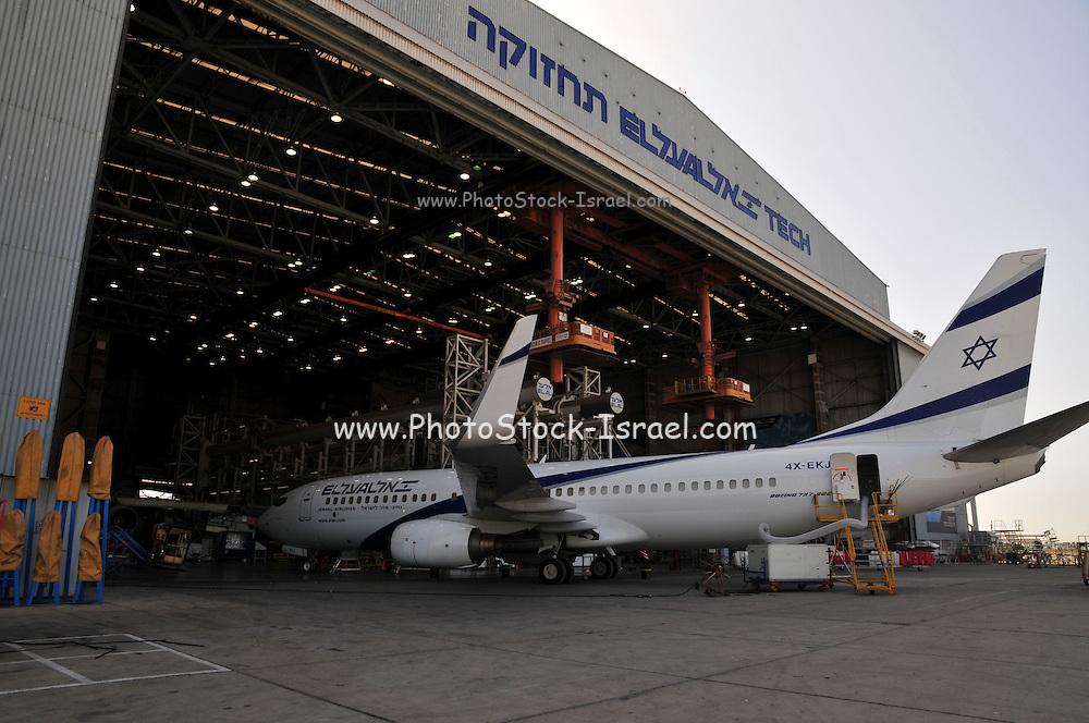 Israel, Ben-Gurion international Airport El Al Aircraft Maintenance Hangar