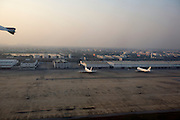 Don Muang Airport, used for domestic flights during repair on one of the new Suvarnabhumi airport's crumbling runways. Thai Airways flight from Bangkok to Had Yai.