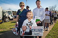 Madison, Mississippi, March 7, 2016   London Lord, 8 years old waits on line to get into a  Donald Trump rally the day before Mississippi primary.She said she likes Trump becuase he is rich.