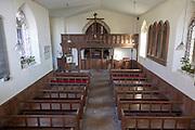 Interior village parish church of Saint Nicholas, Fisherton Delamere, Wiltshire, England, UK