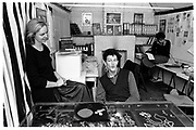 MONTY DON; SARAH DON, In their Monty Don jewelry studio workshop. Islington. 1983, <br /> <br /> SUPPLIED FOR ONE-TIME USE ONLY> DO NOT ARCHIVE. © Copyright Photograph by Dafydd Jones 248 Clapham Rd. London Sw9 0DA 0207 820 0771, <br />  www.dafjones.com