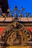 The Golden Gate of the Palace of 55 Windows, Durbar Square, Bhaktapur, Kathmandu Valley, Nepal.