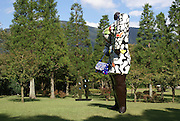 Japan, Honshu Island, Kanagawa Prefecture, Fuji Hakone National Park, Hakone Open-Air Museum. Miss Black Power by Niki de Saint Phalle