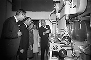 10/10/1966<br /> 10/10/1966<br /> 10 October 1966<br /> Opening of new Roma Foods Products Ltd. factory at Finglas, Dublin. Picture shows  touring the factory (l-r): Baron Vittoro Guicciardi, Italian Ambassador; Mr. George Colley T.D., Minister for Industry and Commerce; Mrs. Mary Colley; Mrs. Patrick Meade and Mr. Patrick Meade, Managing Director showing some of the modern machinery in the factory.