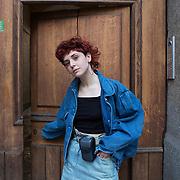 Piccolo Teatro Grassi, Milano, Italia, 29 Marzo 2021. Zoe Pontillo, 19 anni, studentessa della Statale si iscriverà a tecnologie dell'arte all'Accademia di Brera.