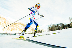 January 28, 2018 - Goms, SWITZERLAND - 180128 Frida Karlsson of Sweden competes in the prologue of the women's sprint free technique during the FIS Nordic Junior World Ski Championships on January 28, 2018 in Obergoms..Photo: Vegard Wivestad GrÂ¿tt / BILDBYRN / kod VG / 170083 (Credit Image: © Vegard Wivestad Gr¯Tt/Bildbyran via ZUMA Press)