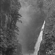El Pailon del Diablo waterfalls near Banos, Ecuado