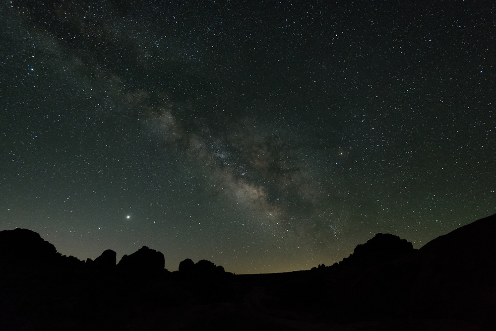 The night sky in the Alabama Hills