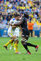 Damien CHOULY - 18.04.2015 - Clermont / Saracens - 1/2Finale European Champions Cup<br />Photo : Jean Paul Thomas / Icon Sport