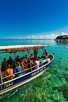 A tour boat, island of Moorea, French Polynesia.