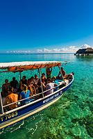 A tour boat, island of Moorea, French Polynesia.