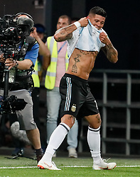 June 26, 2018 - Saint Petersburg, Russia - Marcos Rojo of Argentina national team celebrates his goal during the 2018 FIFA World Cup Russia group D match between Nigeria and Argentina on June 26, 2018 at Saint Petersburg Stadium in Saint Petersburg, Russia. (Credit Image: © Mike Kireev/NurPhoto via ZUMA Press)