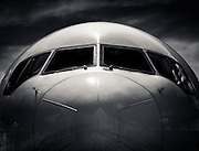 Nose of a Delta Air Lines Boeing 767-400, on the ramp at Hartsfield-Jackson Atlanta International Airport.  <br />