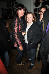 Left to right, JANET STREET-PORTER and RACHEL WHITEREAD at a party to celebrate the 10th anniversary of Counter Editions the contemporary art website held at Rivington Grill, Shoreditch, London on 5th May 2010.