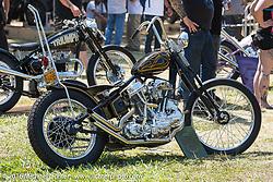 BF8 Invited builder Tim Vander's Vander Built custom 1961 Harley-Davidson Panhead at the Born Free 8 Motorcycle Show. Silverado, CA, USA. June 26, 2016.  Photography ©2016 Michael Lichter.