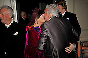 MIN HOGG; NICKY HASLAM,  Nicky Haslam party for Janet de Bottona nd to celebrate 25 years of his Design Company.  Parkstead House. Roehampton. London. 16 October 2008.  *** Local Caption *** -DO NOT ARCHIVE-© Copyright Photograph by Dafydd Jones. 248 Clapham Rd. London SW9 0PZ. Tel 0207 820 0771. www.dafjones.com.