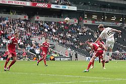 Milton Keynes Dons' Patrick Bamford heads towards the goal  - Photo mandatory by-line: Nigel Pitts-Drake/JMP - Tel: Mobile: 07966 386802 24/08/2013 - SPORT - FOOTBALL - Stadium MK - Milton Keynes - Milton Keynes Dons V Bristol City - Sky Bet League One