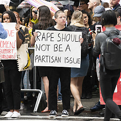 October 4, 2018 - New York, NY, U.S - Protest, against the confirmation of Brett Kavanaugh as a Supreme Court Justice, taking place on Fifth Avenue starting at Trump Tower at 56th Street and heading south along Fifth Avenue in New York City, New York on October 4, 2018 (Credit Image: © Michael Brochstein/ZUMA Wire)