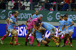 January 5, 2019 - Paris, France - Perpignan Flanker LUCAS BACHELIER in action during the French rugby championship Top 14 match between Stade Francais and  Perpignan at Jean Bouin Stadium in Paris - France..Stade Franais won 27-8 (Credit Image: © Pierre Stevenin/ZUMA Wire)