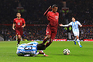 Nani of Portugal in action - Argentina vs. Portugal - International Friendly - Old Trafford - Manchester - 18/11/2014 Pic Philip Oldham/Sportimage