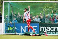 Fotball <br /> OBOS-ligaen<br /> Levanger v Brann<br /> 26.05.2015<br /> Foto: Anders Hoven/Digitalsport<br /> <br /> Bendik Bye (11) jubler for scoring Levanger. Keeper Nils Kenneth Udjus - Brann
