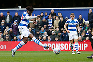 QPR midfielder Eberechi Eze (30) scores a goal (score 1-0) during the EFL Sky Bet Championship match between Queens Park Rangers and Sunderland at the Loftus Road Stadium, London, England on 10 March 2018. Picture by Andy Walter.