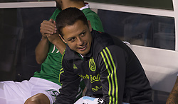 June 1, 2017 - Meadowlands, New Jersey, United States - Javier Hernandez Chicharito (14) of Mexico sits on bench during friendly game against Republic of Ireland at MetLife arena in Meadowlands, Mexico won 3 - 1. (Credit Image: © Lev Radin/Pacific Press via ZUMA Wire)