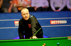 John Higgins during day sixteen of the 2018 Betfred World Championship at The Crucible, Sheffield.