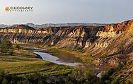 Red Cliffs above the Little Missouri River in the Little Missouri National Grasslands, North Dakota, USA