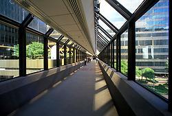 Stock photo of the Houston Center skywalk in Houston, Texas
