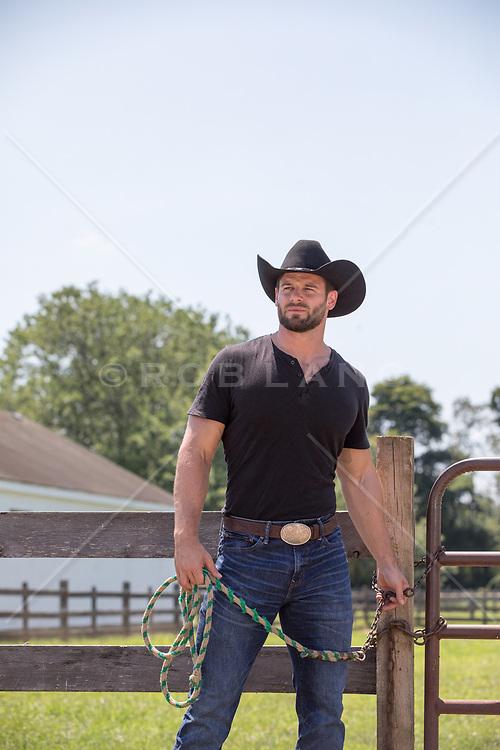rugged cowboy on a ranch